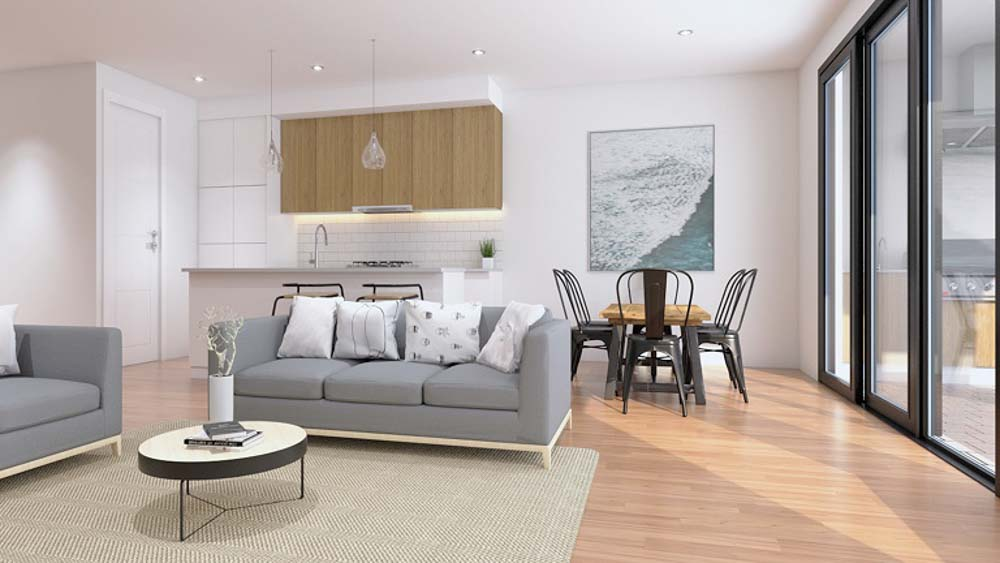 3D Visual Rendering - Living Room
